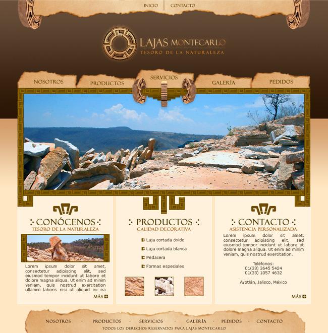 Lajas Montecarlo - Sitio Web