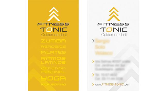 Fitness Tonic - Tarjeta de presentación