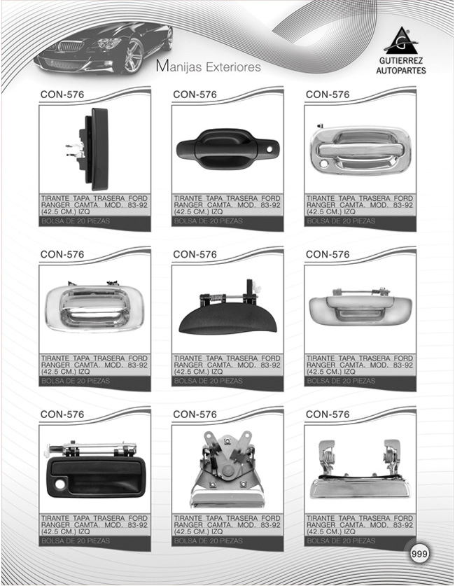 Gutierrez Autopartes - Catálogo 2009