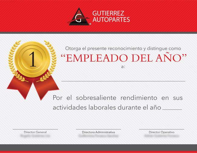 Gutierrez Autopartes - Diploma