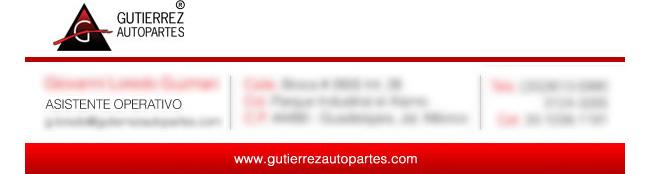 Gutierrez Autopartes - Firma de correo