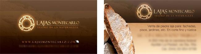 Lajas Montecarlo - Tarjeta de presentación