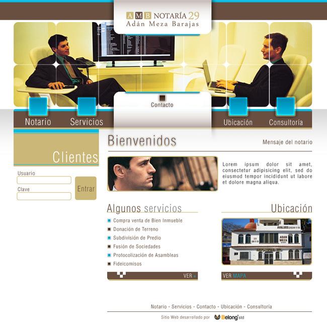 Notaria 29 Meza -  Sitio web
