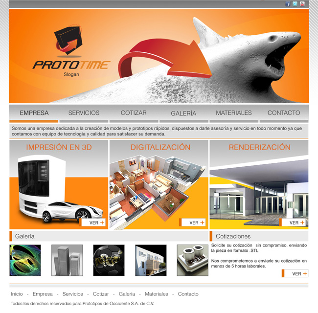 Prototime - Sitio web