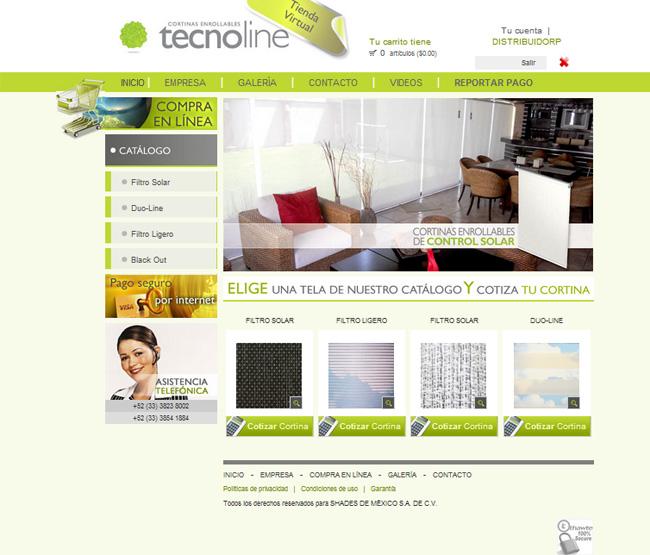 Tecnoline - Carrito de compras