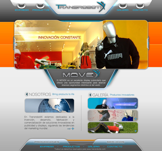 Transrobotix - Sitio Web