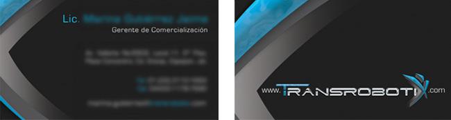 Transrobotix - Tarjeta de presentación